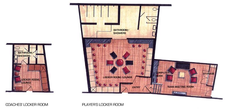 Ordinaire ASU Womenu0027s Basketball New Locker Room Renovation   Sports Facility Interior  Design